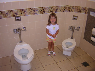 Family Bathroom On Our Drive Back Home We Stopped At A Mall In The Greater Los Angeles Area And Aleshia Thought This Was So Great There